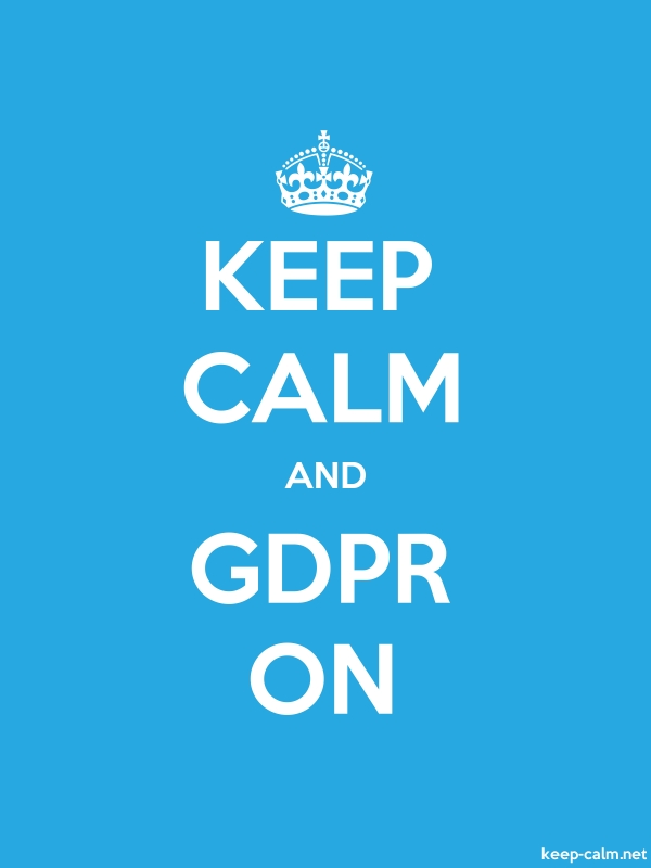 KEEP CALM AND GDPR ON - white/blue - Default (600x800)