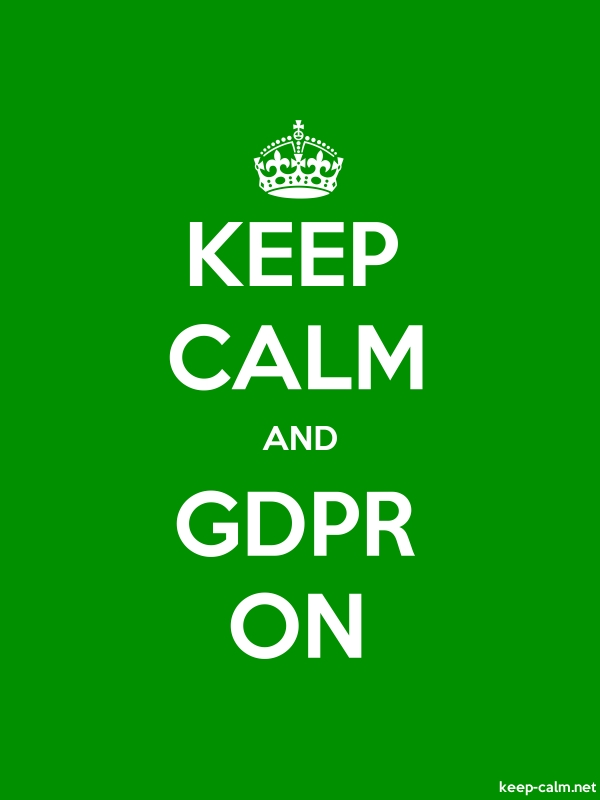 KEEP CALM AND GDPR ON - white/green - Default (600x800)