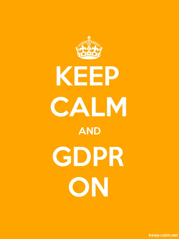 KEEP CALM AND GDPR ON - white/orange - Default (600x800)