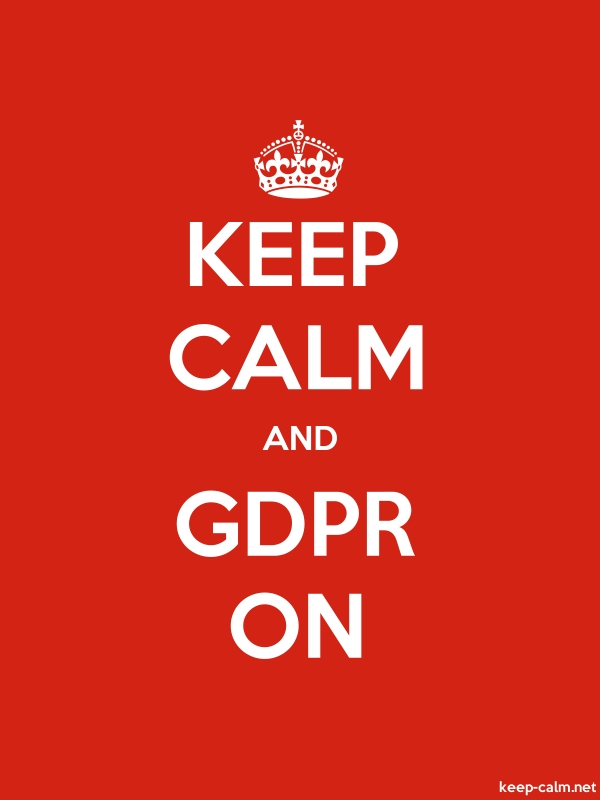 KEEP CALM AND GDPR ON - white/red - Default (600x800)