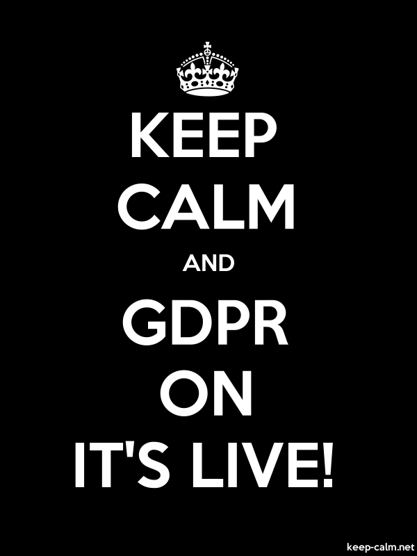 KEEP CALM AND GDPR ON IT'S LIVE! - white/black - Default (600x800)