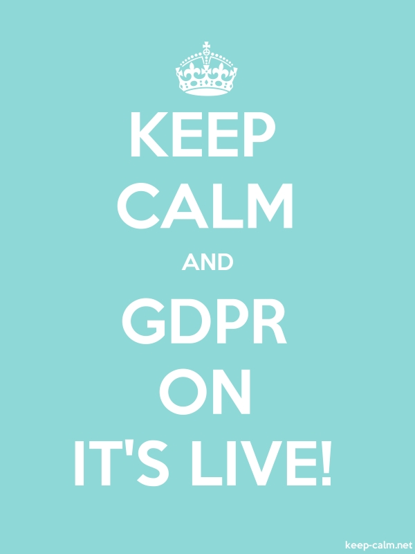 KEEP CALM AND GDPR ON IT'S LIVE! - white/lightblue - Default (600x800)