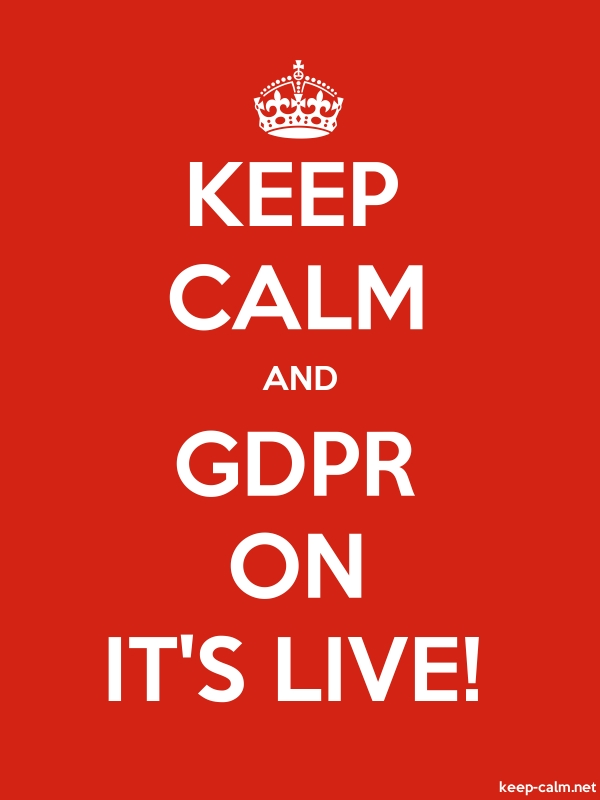 KEEP CALM AND GDPR ON IT'S LIVE! - white/red - Default (600x800)