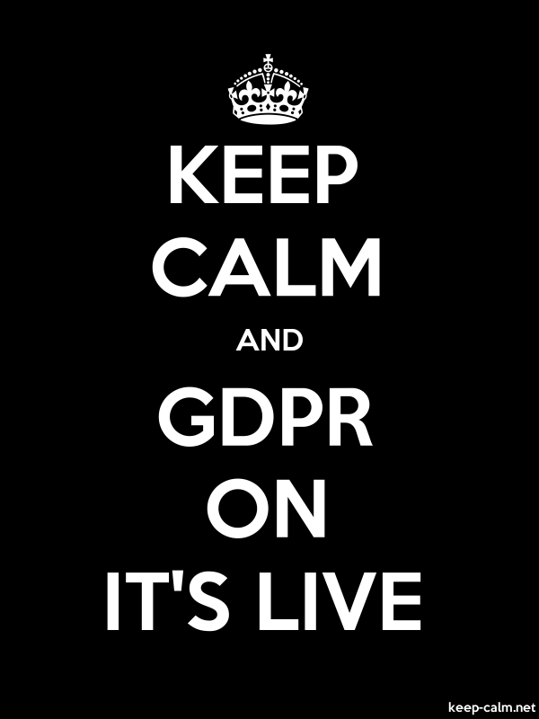 KEEP CALM AND GDPR ON IT'S LIVE - white/black - Default (600x800)