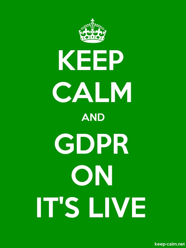 KEEP CALM AND GDPR ON IT'S LIVE - white/green - Default (600x800)