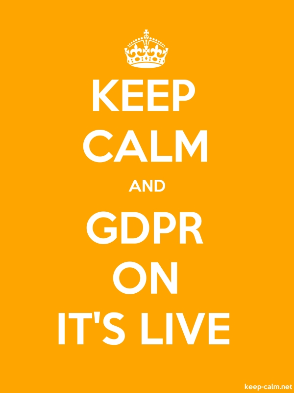 KEEP CALM AND GDPR ON IT'S LIVE - white/orange - Default (600x800)