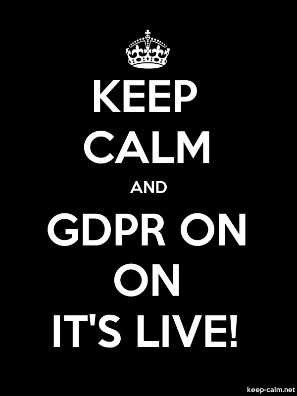 KEEP CALM AND GDPR ON ON IT'S LIVE! - white/black - Default (600x800)