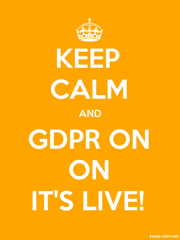 KEEP CALM AND GDPR ON ON IT'S LIVE! - white/orange - Default (600x800)