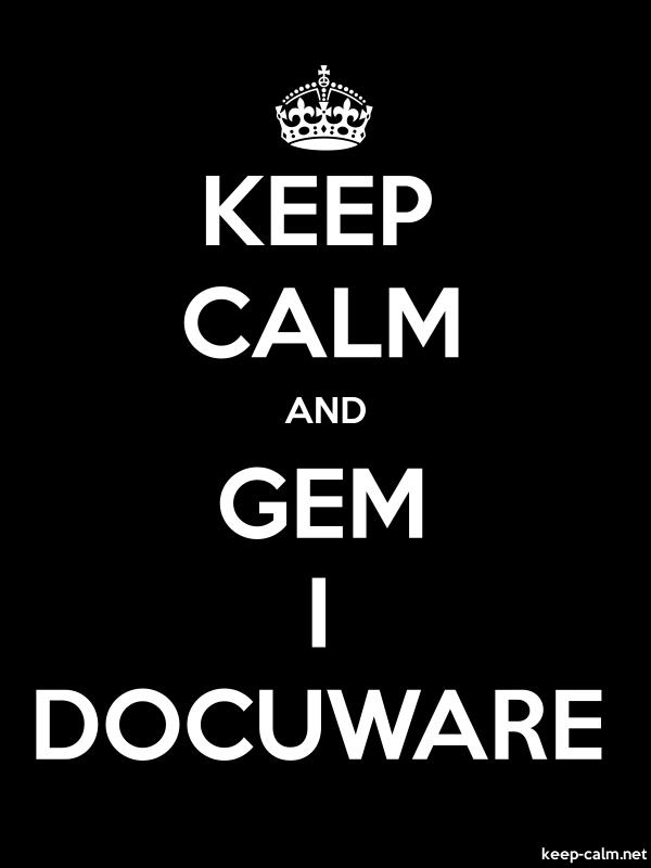 KEEP CALM AND GEM I DOCUWARE - white/black - Default (600x800)