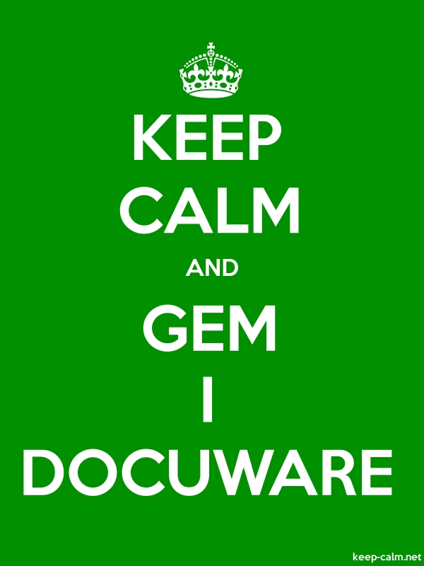 KEEP CALM AND GEM I DOCUWARE - white/green - Default (600x800)
