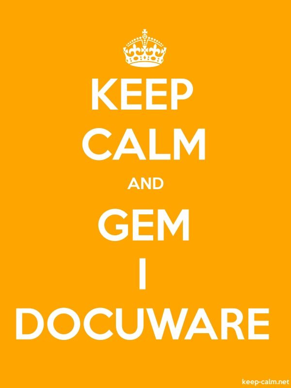 KEEP CALM AND GEM I DOCUWARE - white/orange - Default (600x800)