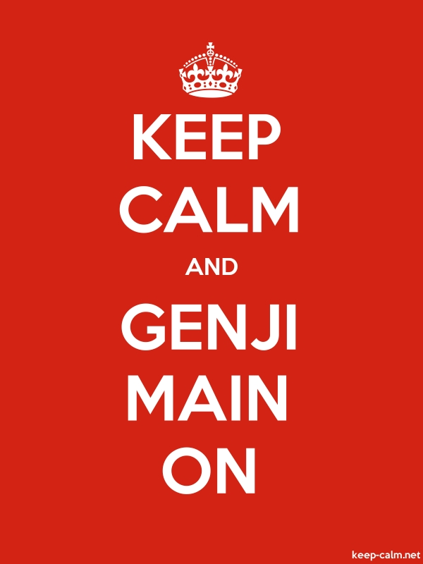 KEEP CALM AND GENJI MAIN ON - white/red - Default (600x800)