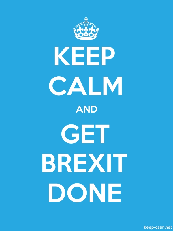 KEEP CALM AND GET BREXIT DONE - white/blue - Default (600x800)