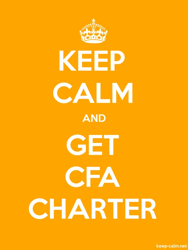 KEEP CALM AND GET CFA CHARTER - white/orange - Default (600x800)