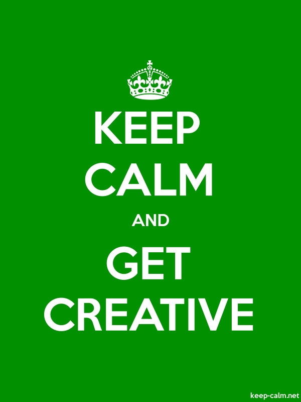 KEEP CALM AND GET CREATIVE - white/green - Default (600x800)