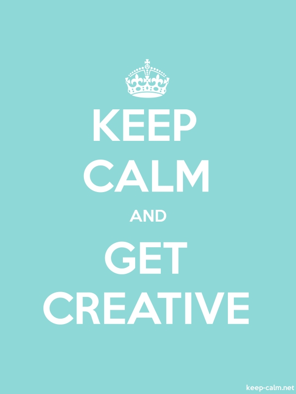 KEEP CALM AND GET CREATIVE - white/lightblue - Default (600x800)