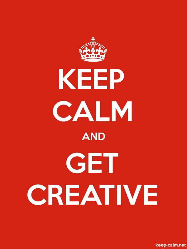 KEEP CALM AND GET CREATIVE - white/red - Default (600x800)