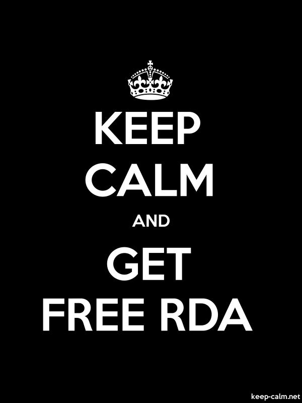 KEEP CALM AND GET FREE RDA - white/black - Default (600x800)