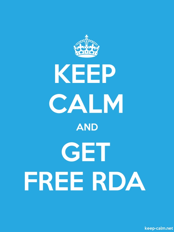 KEEP CALM AND GET FREE RDA - white/blue - Default (600x800)