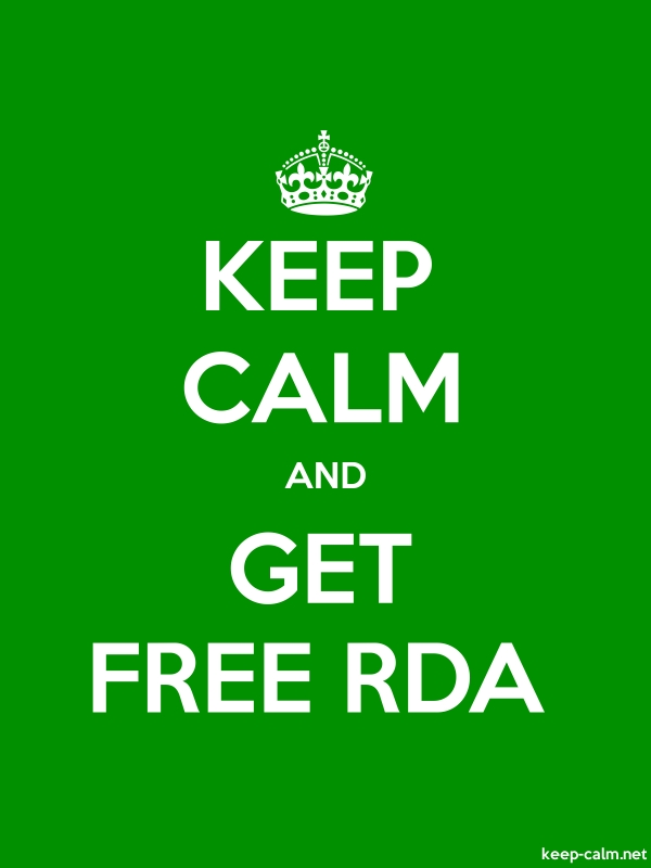 KEEP CALM AND GET FREE RDA - white/green - Default (600x800)