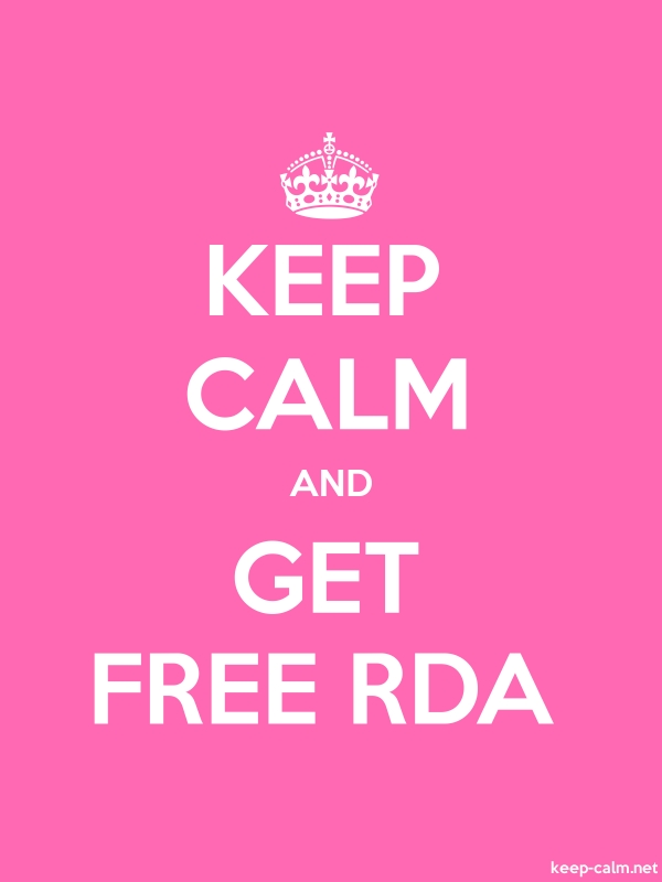 KEEP CALM AND GET FREE RDA - white/pink - Default (600x800)