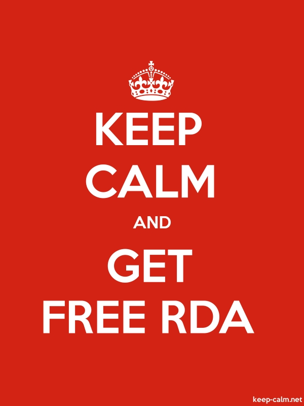 KEEP CALM AND GET FREE RDA - white/red - Default (600x800)