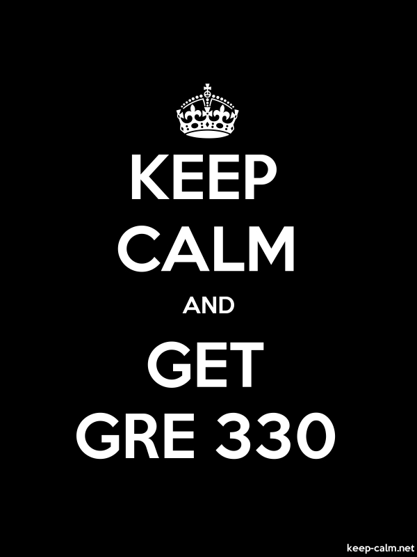 KEEP CALM AND GET GRE 330 - white/black - Default (600x800)