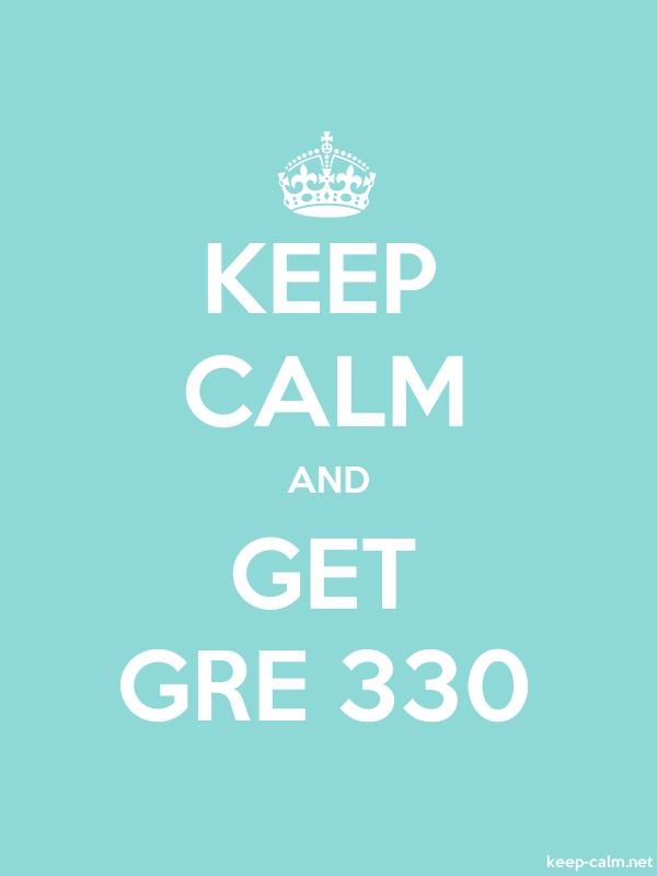 KEEP CALM AND GET GRE 330 - white/lightblue - Default (600x800)