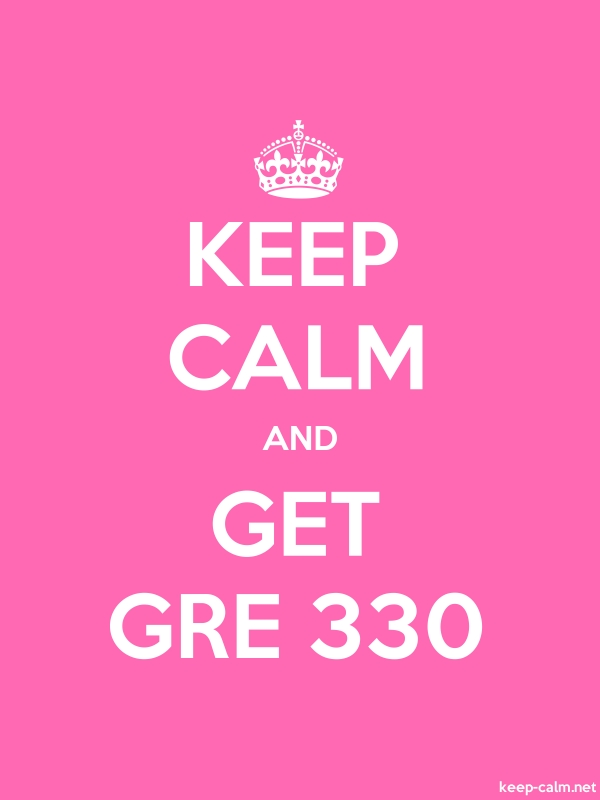 KEEP CALM AND GET GRE 330 - white/pink - Default (600x800)