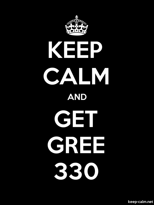 KEEP CALM AND GET GREE 330 - white/black - Default (600x800)