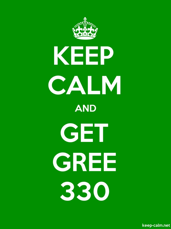 KEEP CALM AND GET GREE 330 - white/green - Default (600x800)
