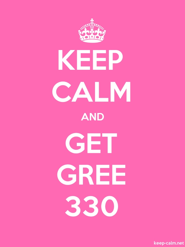 KEEP CALM AND GET GREE 330 - white/pink - Default (600x800)