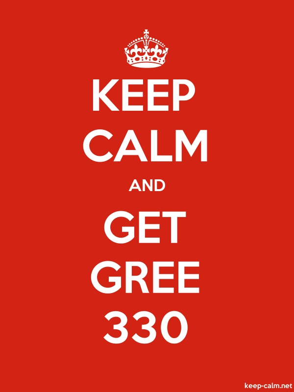 KEEP CALM AND GET GREE 330 - white/red - Default (600x800)