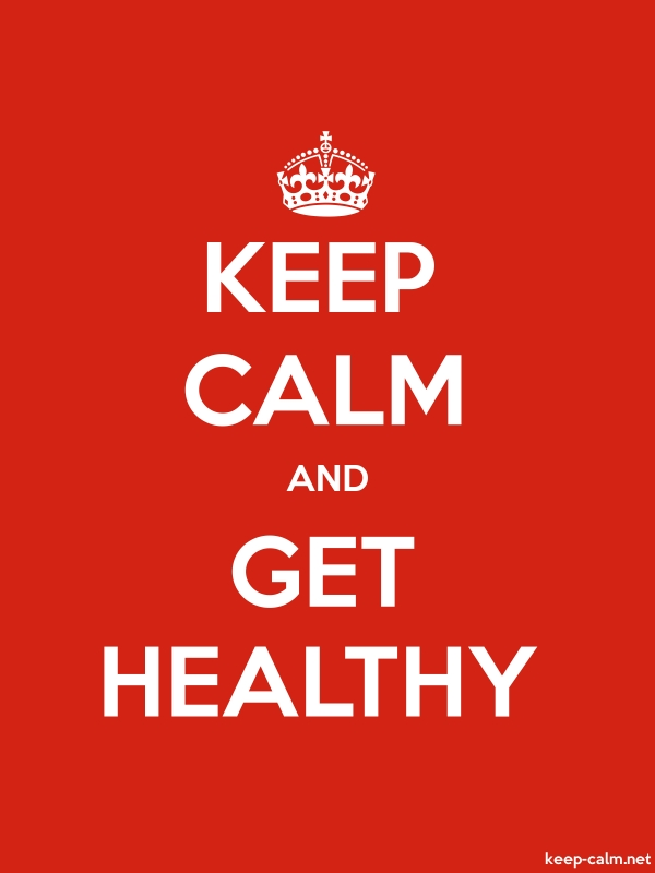 KEEP CALM AND GET HEALTHY - white/red - Default (600x800)