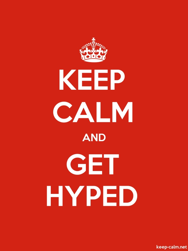 KEEP CALM AND GET HYPED - white/red - Default (600x800)