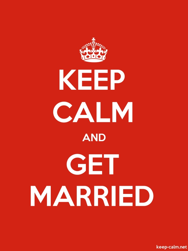 KEEP CALM AND GET MARRIED - white/red - Default (600x800)