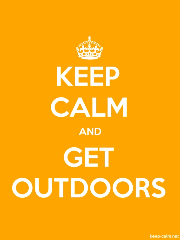 KEEP CALM AND GET OUTDOORS - white/orange - Default (600x800)
