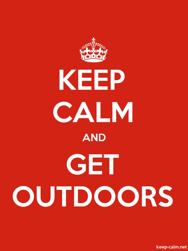 KEEP CALM AND GET OUTDOORS - white/red - Default (600x800)
