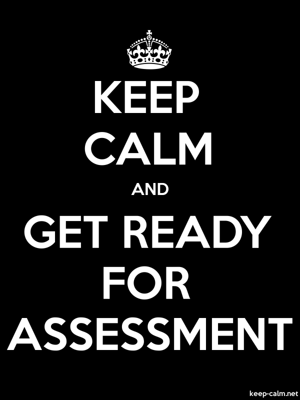 KEEP CALM AND GET READY FOR ASSESSMENT - white/black - Default (600x800)