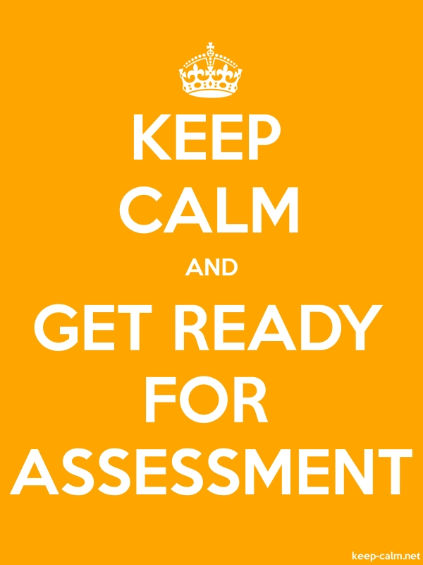 KEEP CALM AND GET READY FOR ASSESSMENT - white/orange - Default (600x800)