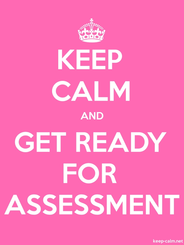KEEP CALM AND GET READY FOR ASSESSMENT - white/pink - Default (600x800)