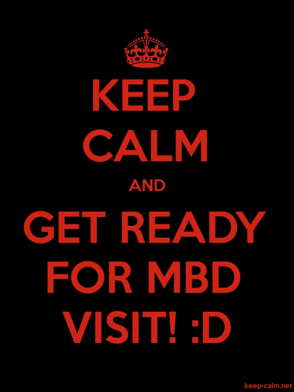 KEEP CALM AND GET READY FOR MBD VISIT! :D - red/black - Default (600x800)