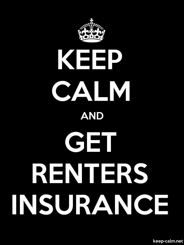 KEEP CALM AND GET RENTERS INSURANCE - white/black - Default (600x800)
