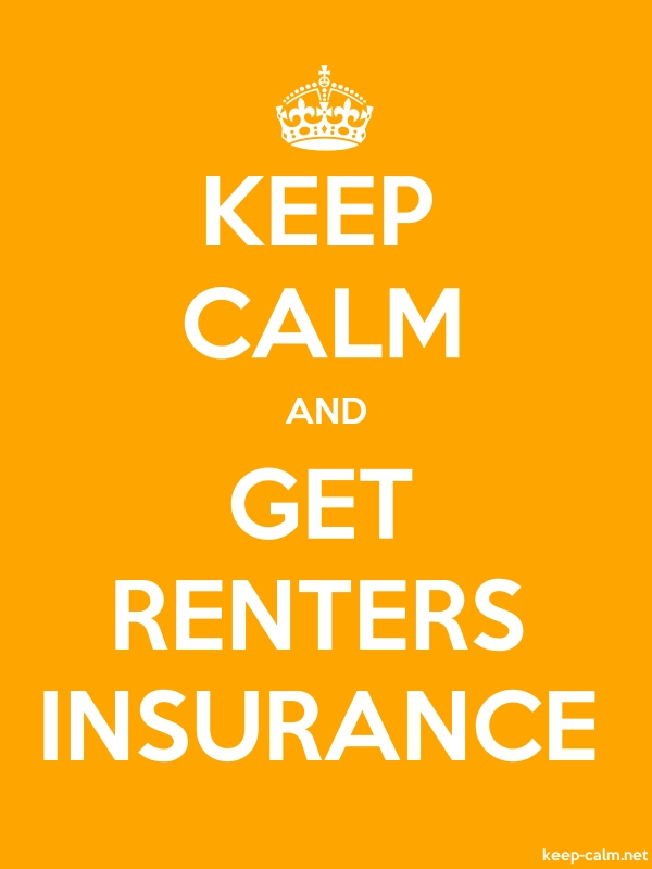 KEEP CALM AND GET RENTERS INSURANCE - white/orange - Default (600x800)