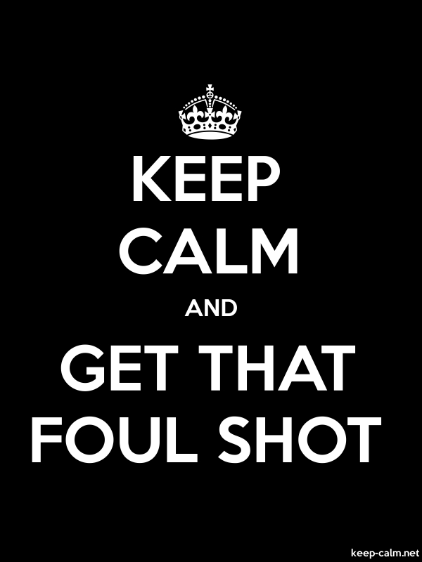 KEEP CALM AND GET THAT FOUL SHOT - white/black - Default (600x800)