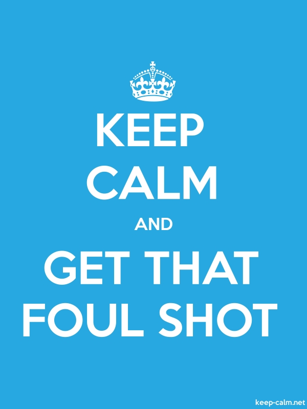 KEEP CALM AND GET THAT FOUL SHOT - white/blue - Default (600x800)