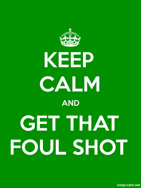 KEEP CALM AND GET THAT FOUL SHOT - white/green - Default (600x800)