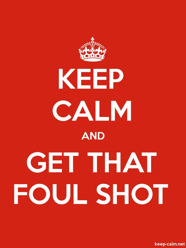 KEEP CALM AND GET THAT FOUL SHOT - white/red - Default (600x800)
