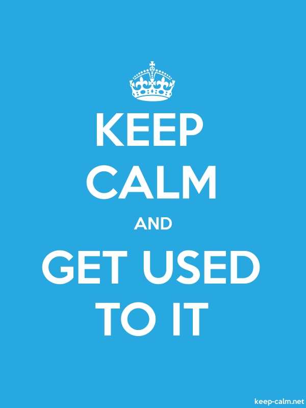 KEEP CALM AND GET USED TO IT - white/blue - Default (600x800)
