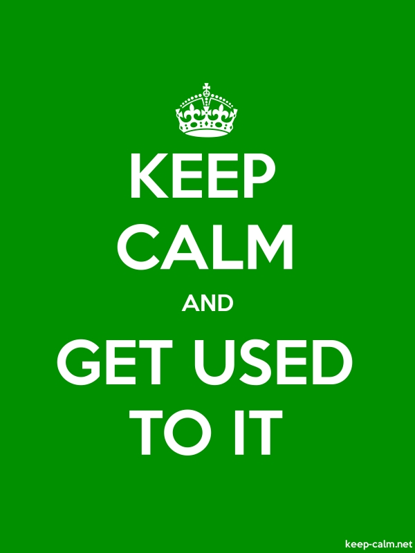 KEEP CALM AND GET USED TO IT - white/green - Default (600x800)